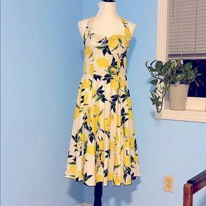 🆕 Heart & Roses Lemon Halter Dress